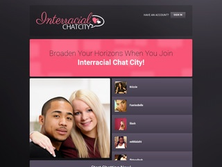 Interracial Chat City Homepage Image